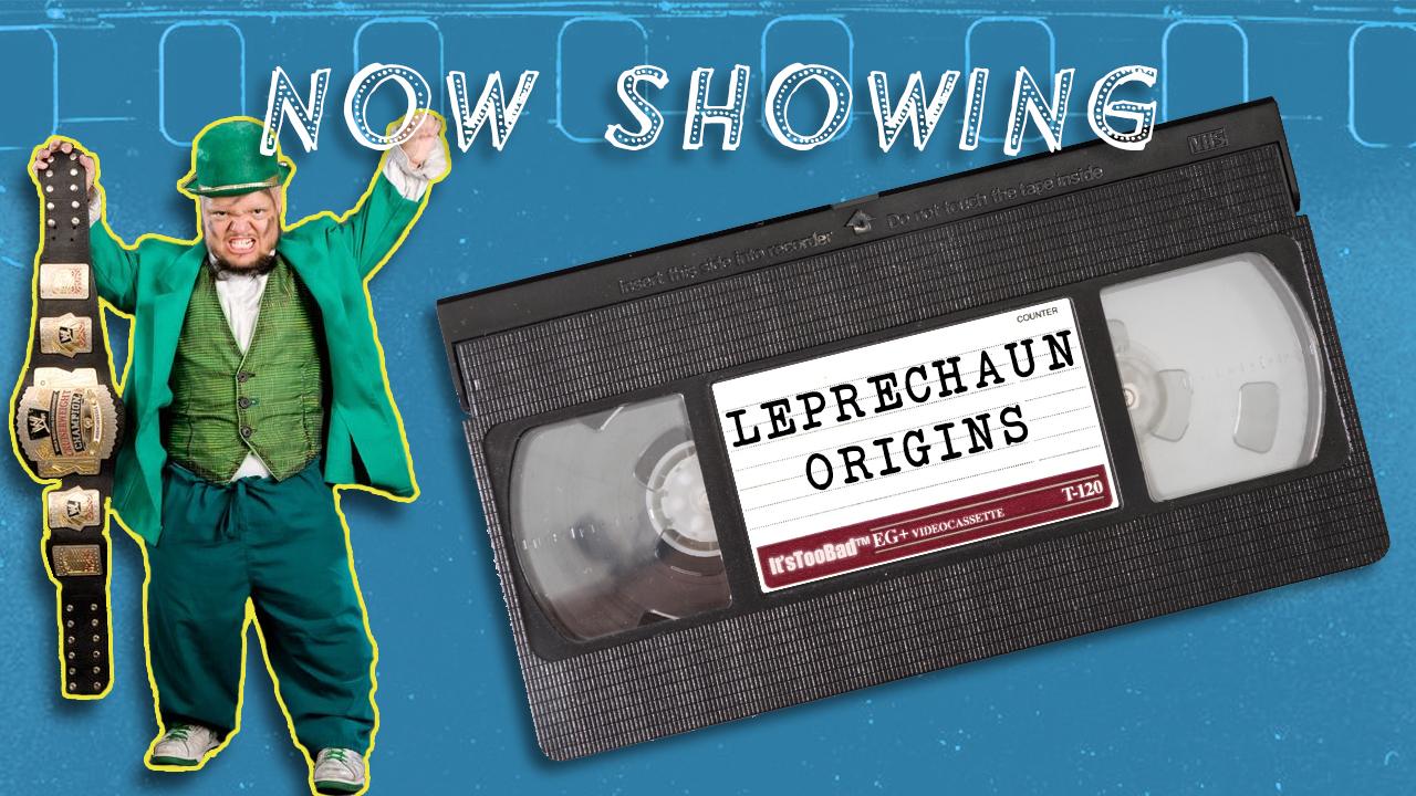 WWE wrestler Hornswoggle removes his Leprechaun costume to become... a leprechaun?